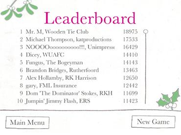 Beazley Broker Dash Game Leaderboard Screenshot