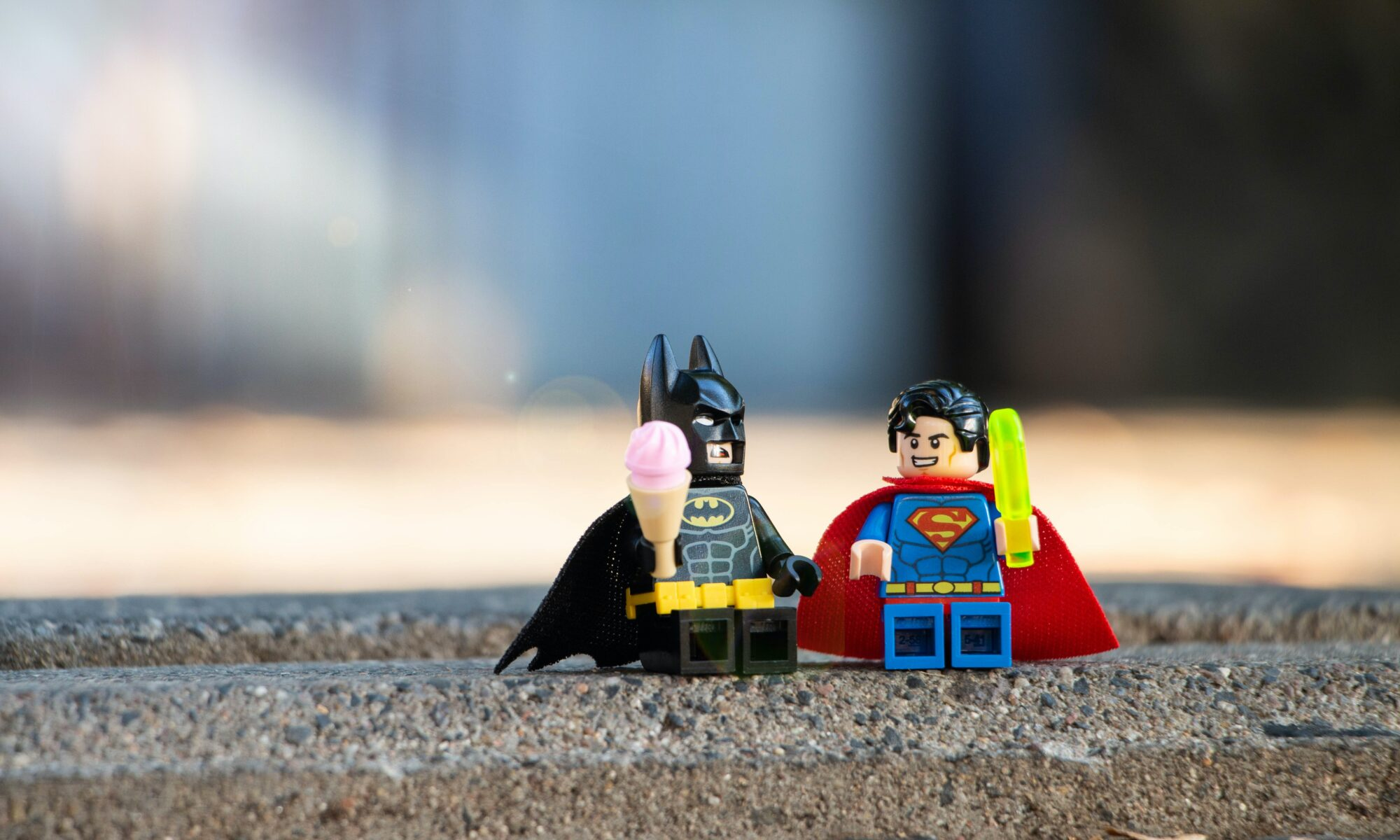 turning the fear of criticism into SUPERPOWERS - image of batman and superman lego characters by yulia matvienko for unsplash