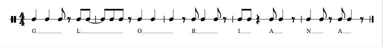 Gloriana's Theme - a rhythm based on morse code